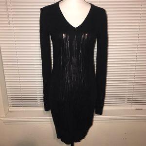 Ted Baker London Knit Sweater Black Sequin Dress M